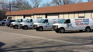 Service vehicle for White Bear Heating and Cooling